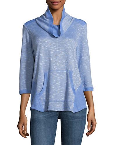 Ruby Rd Pullover Cowl Neck Top-BLUE-Medium 89811251_BLUE_Medium