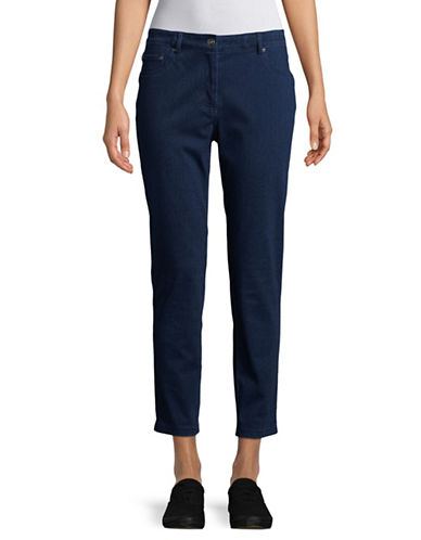 Ruby Rd Cotton-Blend Stretch Leggings-BLUE-12