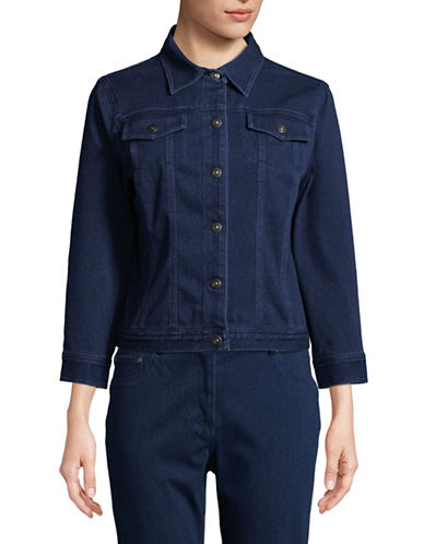 Ruby Rd Cotton-Blend Stretch Jacket-BLUE-14
