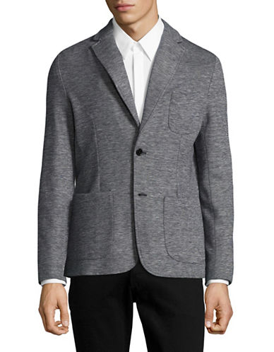 Z Zegna Space Dye Cotton-Linen Sports Jacket-NAVY/GREY-52