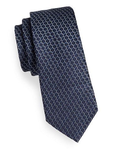 Z Zegna Woven Silk-Blend Tie-NAVY-One Size