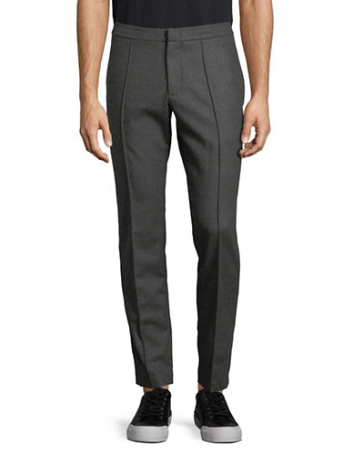 Z Zegna Striped Flannel Wool Pants-GREY-46