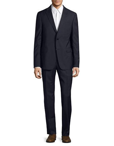 Z Zegna Mini Houndstooth Drop Suit-NAVY-EU 54/US 44