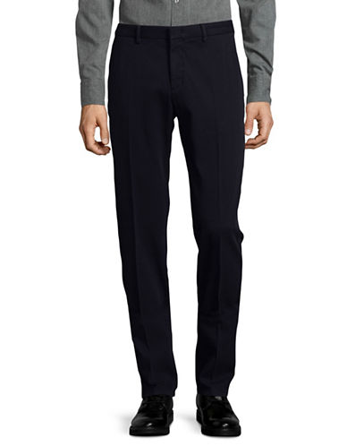 Z Zegna Narrow-Fit Stretch Twill Pants-DARK BLUE-46