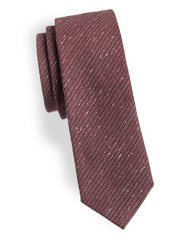 Z Zegna Micro Stripe Silk Tie-RED-One Size