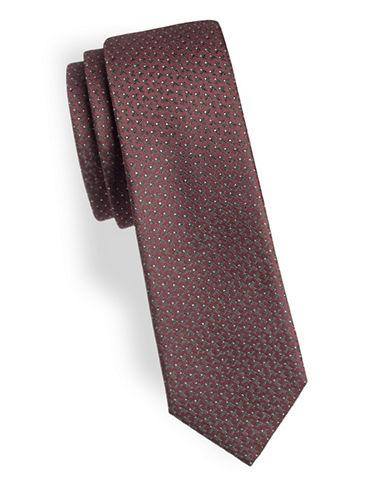 Z Zegna Small Geometric Tie-RED-One Size