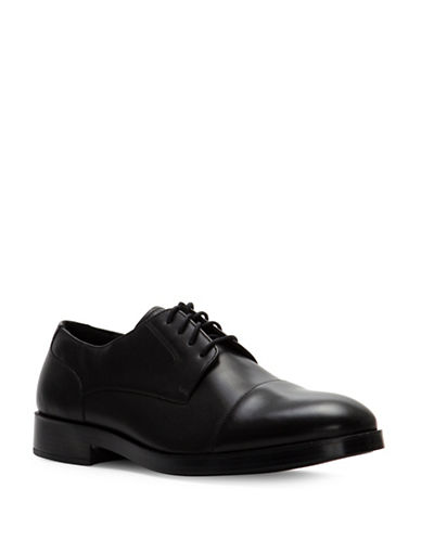 Cole Haan Henry Grand Cap Toe Leather Oxfords-BLACK-9.5
