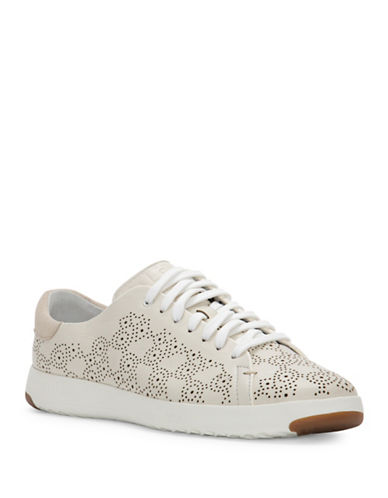 Cole Haan GrandPro Leather Paisley Perforated Sneakers-WHITE-6