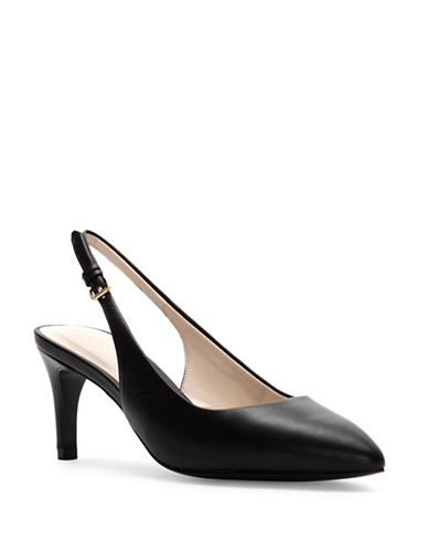 Cole Haan Medora Leather Slingback Pumps-BLACK-11