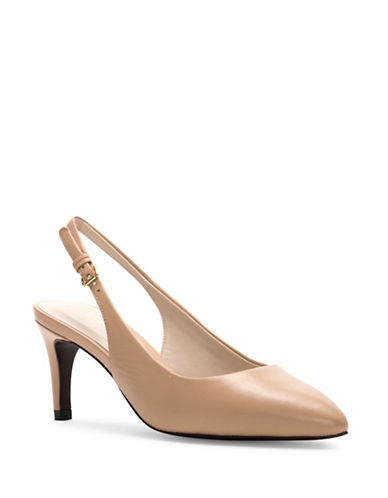 Cole Haan Medora Leather Slingback Pumps-NUDE-8