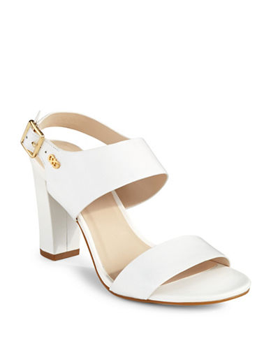 Cole Haan Octavia Leather Heeled Sandals-WHITE-7.5