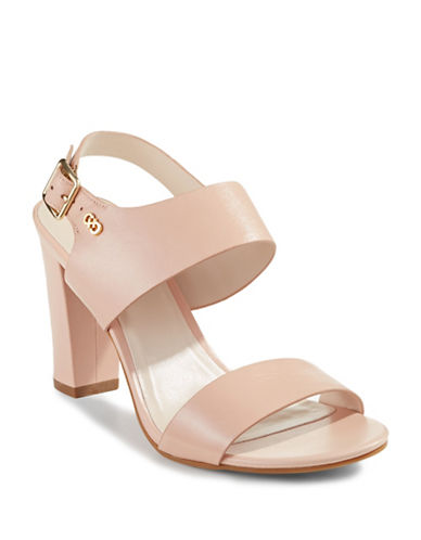 Cole Haan Octavia Leather Heeled Sandals-NUDE-10