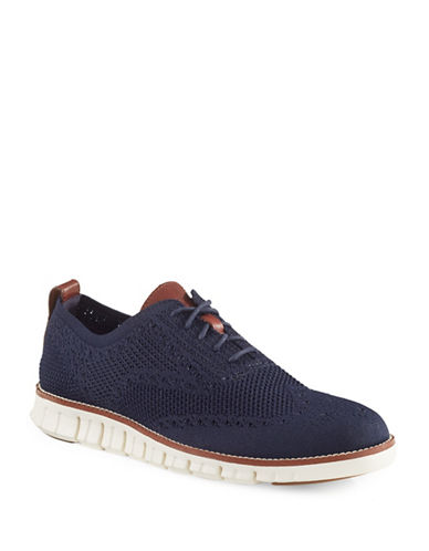 Cole Haan ZeroGrand Stitch Lite Knit Brogue Shoes-BLUE-9.5