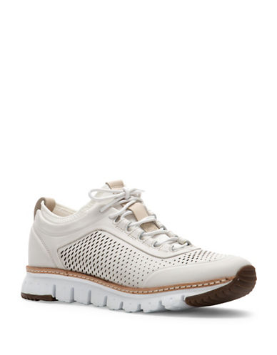 Cole Haan Perforated Leather Sneakers-WHITE-10.5