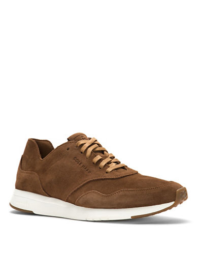 Cole Haan GrandPro Deconstructed Suede Sneaker-BROWN-7.5
