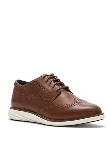 Cole Haan Brogued Leather Derby Shoes-WOODBURY-6