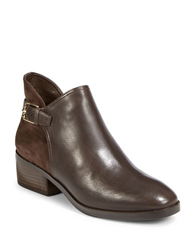Cole Haan Round Toe Boots-JAVA-11