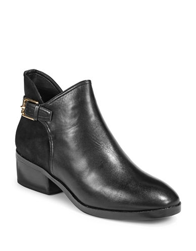 Cole Haan Round Toe Boots-BLACK-5