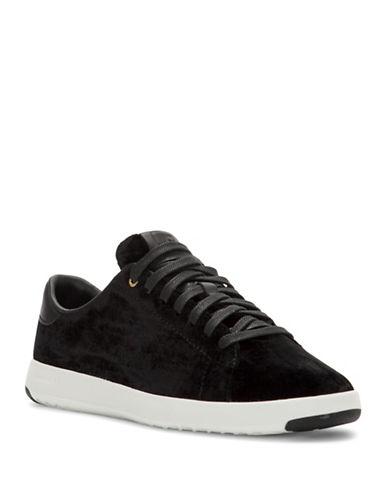 Cole Haan Grandpro Tennis Velvet Sneakers-BLACK-8.5