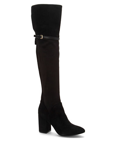 Cole Haan Darcia Over-The-Knee Boots-BLACK SUEDE-9.5