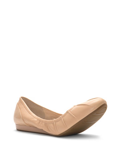 Cole Haan Monique Leather Ballet Flats-NUDE-8.5