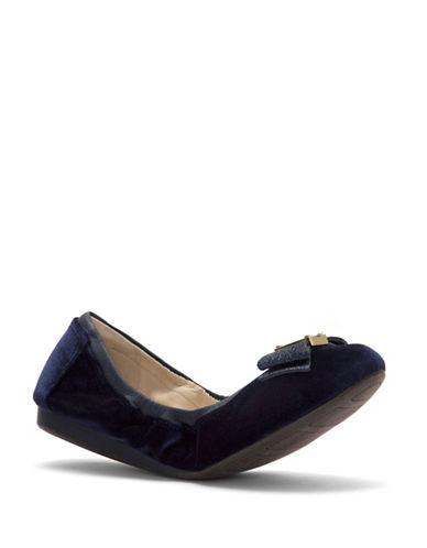 Cole Haan Tali Bow Velvet Ballet Flats-BLUE-7.5