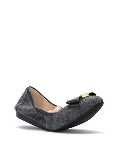 Cole Haan Tali Bow Ballet Flats-GREY-8.5