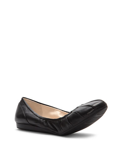Cole Haan Monique Leather Ballet Flats-BLACK-6.5