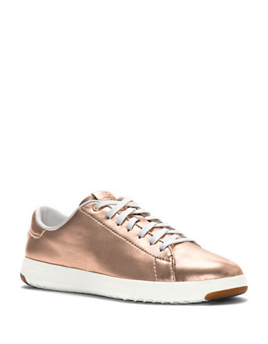 Cole Haan Grand Pro Leather Tennis Sneakers-ROSE GOLD-9