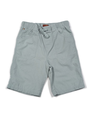 7 For All Mankind Athletic Woven Ripstop Cotton Shorts-GREY-Small