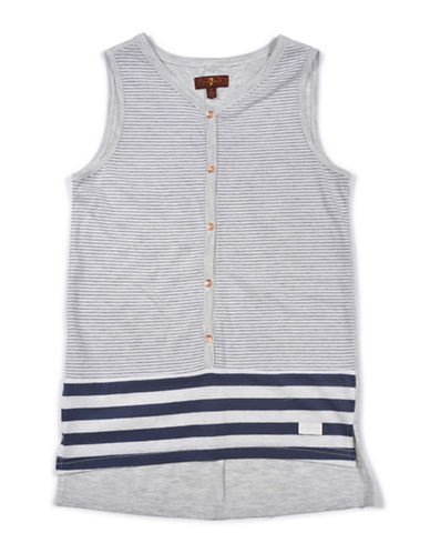 7 For All Mankind Night Striped Tank Top-BLUE-Large 89030319_BLUE_Large