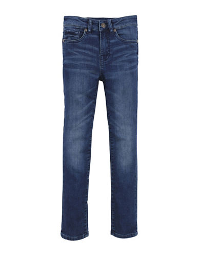 7 For All Mankind Boys Whiskered Denim Washed Jeans-BLUE-8