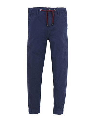 7 For All Mankind Boys Paneled Cotton Jogger Pants-BLUE-12