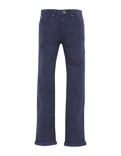 7 For All Mankind Boys Stretch Twill Denim Jeans-BLUE-12