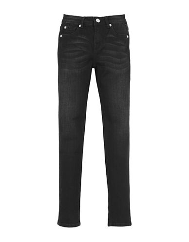 7 For All Mankind Boys Whiskered Slim Washed Jeans-BLACK-10