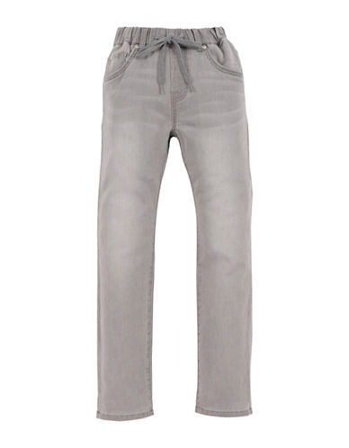 7 For All Mankind Boys Whiskered Denim Washed Jogger Jeans-GREY-Large
