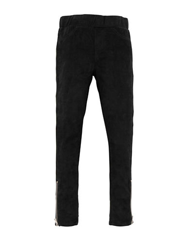 7 For All Mankind Zip Ankle Pull-On Jeans-BLACK-10