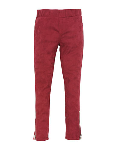 7 For All Mankind Zip Ankle Pull-On Jeans-RED-10