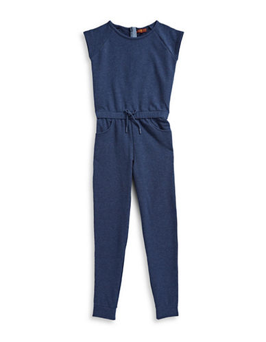7 For All Mankind Heathered Romper-DARK BLUE-X-Large