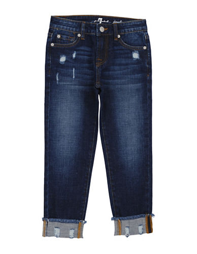 7 For All Mankind Josefina Distressed Crop Jeans-BLUE-7