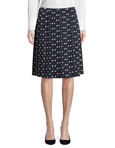 Tommy Hilfiger Pleated Dot Skirt-NAVY-6