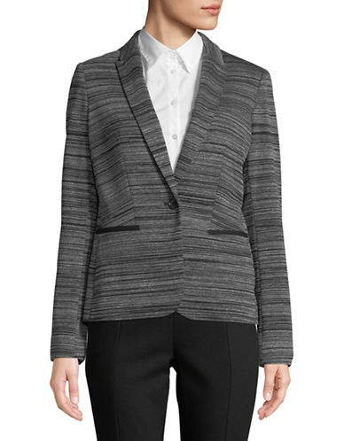 Tommy Hilfiger One-Button Blazer-GREY-6