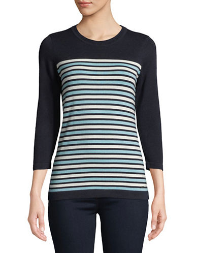 Tommy Hilfiger Striped Stretch Sweater-MULTI-Medium
