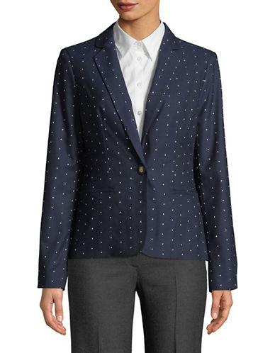 Tommy Hilfiger Pin Dot Blazer-NAVY-14