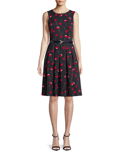 Tommy Hilfiger Floral-Print Fit-and-Flare Dress-NAVY-14