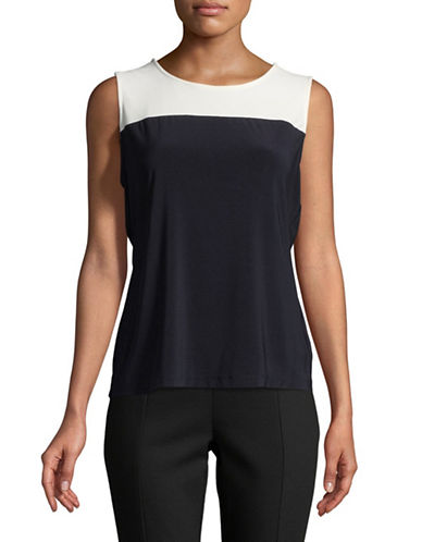 Tommy Hilfiger Colourblock Sleeveless Top-MIDNIGHT BLUE-X-Large