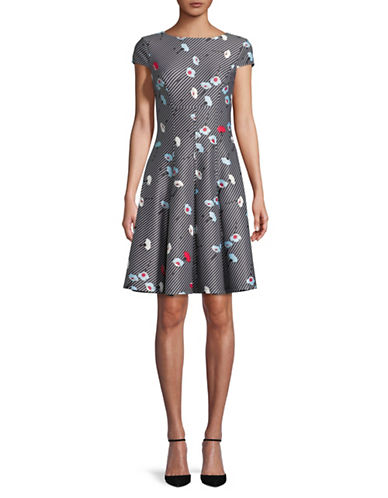 Tommy Hilfiger Printed A-Line Dress-MULTI-4