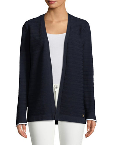 Tommy Hilfiger Open-Front Cardigan-BLUE-Small