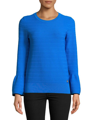 Tommy Hilfiger Bell-Sleeve Pullover-BLUE-Small