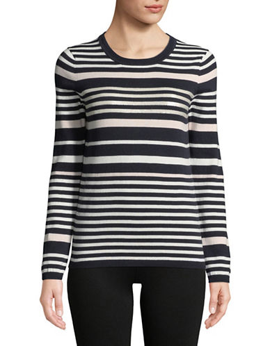 Tommy Hilfiger Striped Cotton Sweater-BLACK-Small